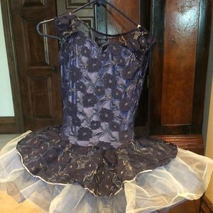 Ballet costume - beautiful navy lace overlay